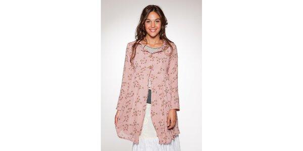 Dámský růžový květovaný kabátek Ian Mosh