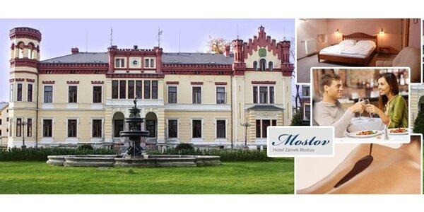 3499 Kč za 3 romantické dny pro DVA na zámku Mostov v západních Čechách