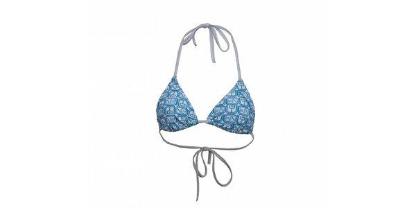 Dámská modrobílá plavková podprsenka Envy