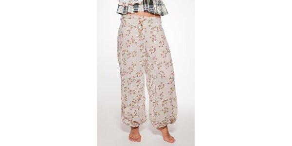 Krémové volné kalhoty Ian Mosh