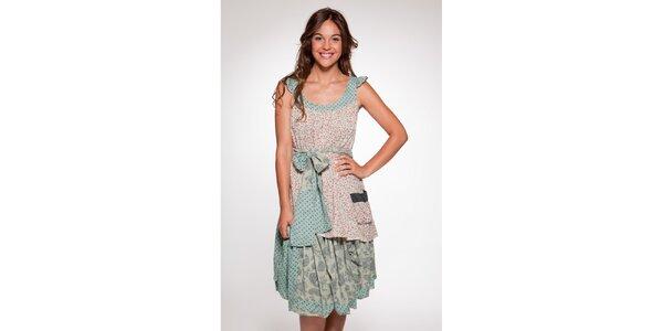 Dámské bílorůžové vzorované šaty Ian Mosh
