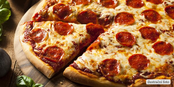 Už za hodinu baštíte: 2 maxi pizzy s rozvozem