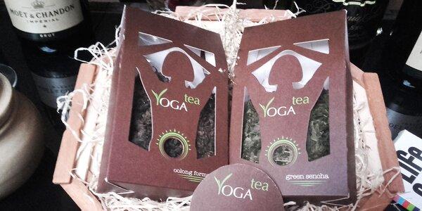 Zdravý dárkový koš sypaných čajů YOGA Tea
