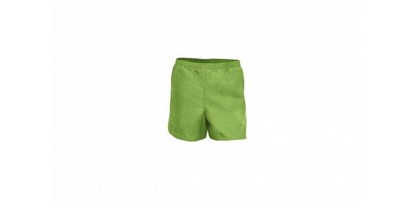 Pánské světle zelené koupací šortky Envy