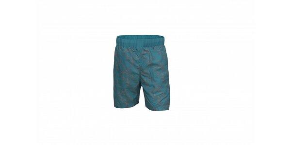 Pánské světle modré koupací šortky Envy s potiskem