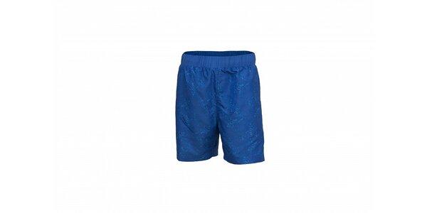 Pánské tmavě modré koupací šortky Envy s potiskem