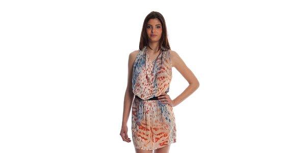 Dámské pestrobarevné šaty Cristian Lay se zvířecím potiskem