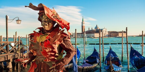 Úchvatný karneval v Benátkách: odjezd v pondělí