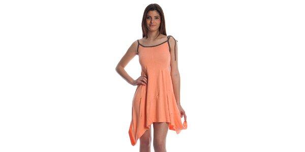 Dámské lososové úpletové šaty Cristian Lay