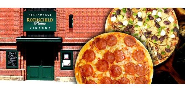 149 Kč za DVĚ libovolné pizzy v Rothschild Palace dle výběru