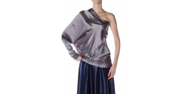Dámský ocelově šedý hedvábný top Gene