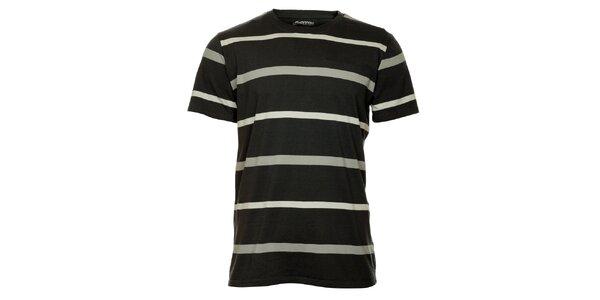 Pánské šedé pruhované tričko Hannah