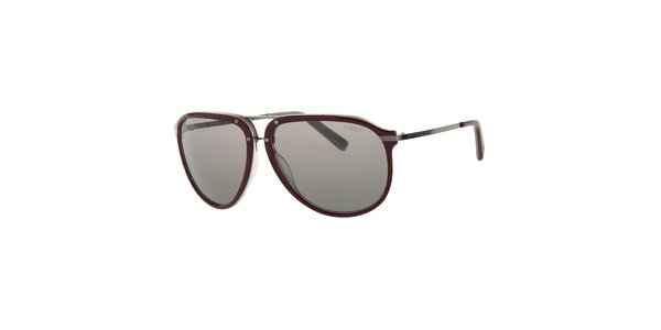 Pánské vínové sluneční brýle Calvin Klein s polarizovanými skly