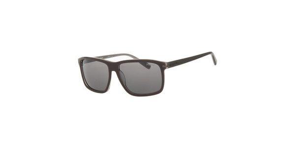 Pánské tmavě hnědé sluneční brýle Calvin Klein
