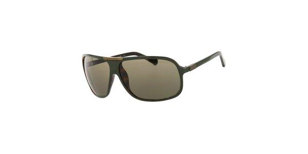 Pánské tmavě zelené sluneční brýle Calvin Klein