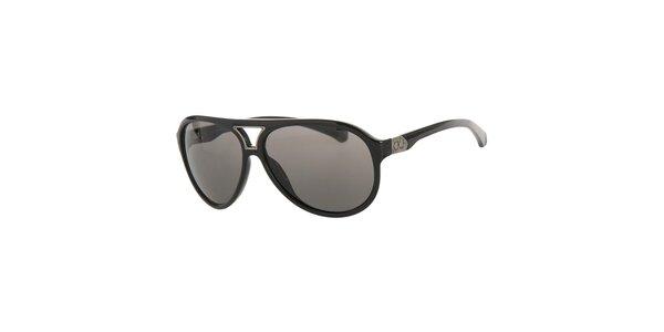 Pánské černé sluneční brýle Calvin Klein s tmavými skly