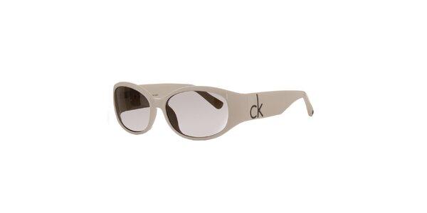Dámské krémové sluneční brýle Calvin Klein