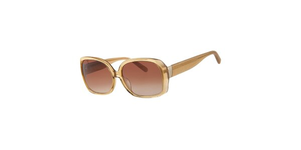 Dámské jantarově zlaté sluneční brýle Calvin Klein