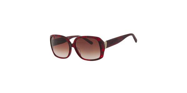 Dámské rubínově červené sluneční brýle Calvin Klein