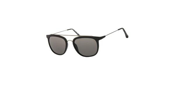 Dámské černé sluneční brýle Calvin Klein s kovovými detaily