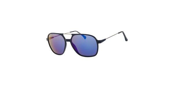 Dámské tmavě modré sluneční brýle Calvin Klein s kovovými detaily a zrcadlovými…