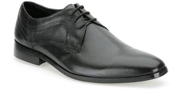 Pánské černé společenské boty Clarks
