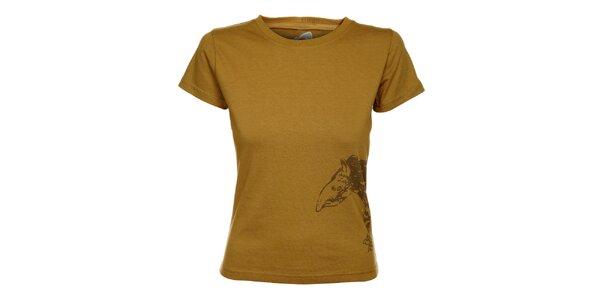 Dámské světle hnědé tričko Hannah