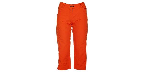 Dámské oranžové 3/4 kalhoty Hannah