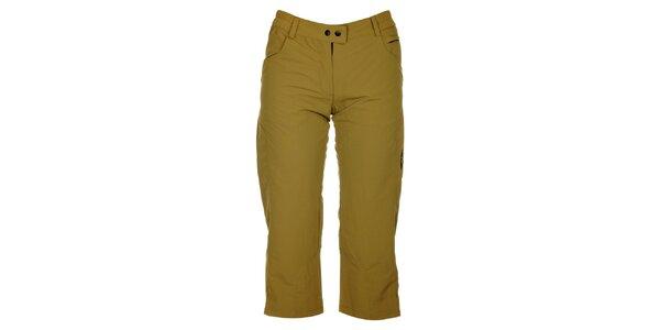 Dámské hnědozelené 3/4 kalhoty Hannah
