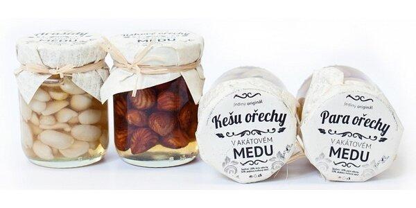 12 sklenic ořechů v akátovém medu