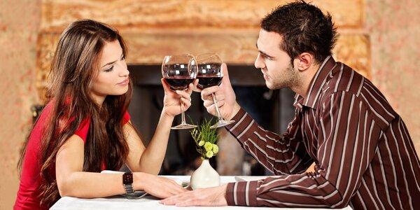 Jen na Valentýna: 3chodové menu pro 2 romantiky