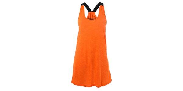 Dámské oranžové bavlněné šaty Santa Barbara