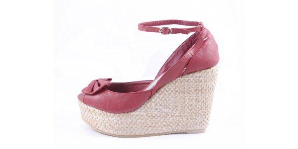 Dámské červené sandálky na platformě Maria Mare