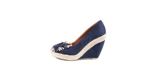 Dámské tmavě modré boty na klínku Maria Mare