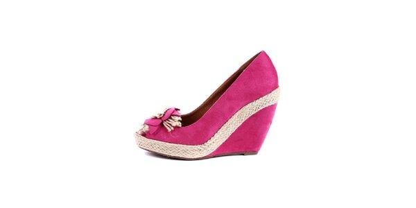 Dámské fuchsiové boty na klínku Maria Mare