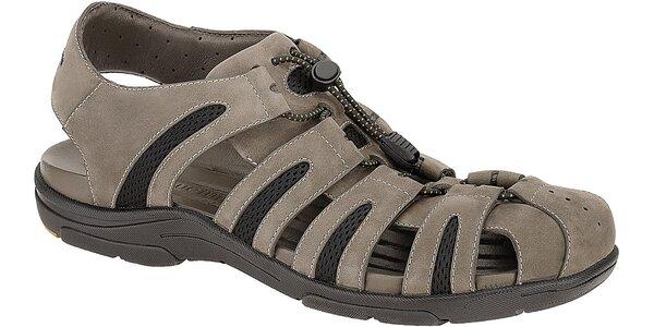 Pánské šedohnědé sportovní sandále Clarks