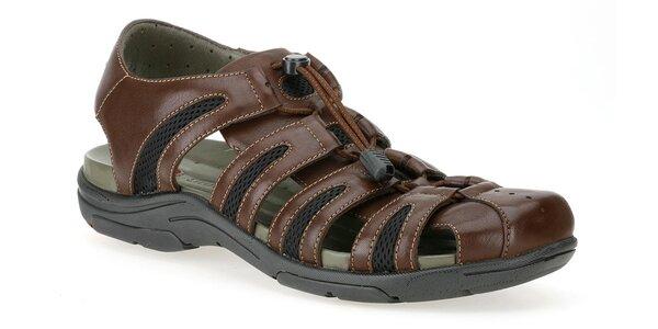 Pánské tmavě hnědé sportovní sandále Clarks