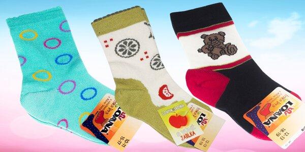 Dětské ponožky české značky Loana