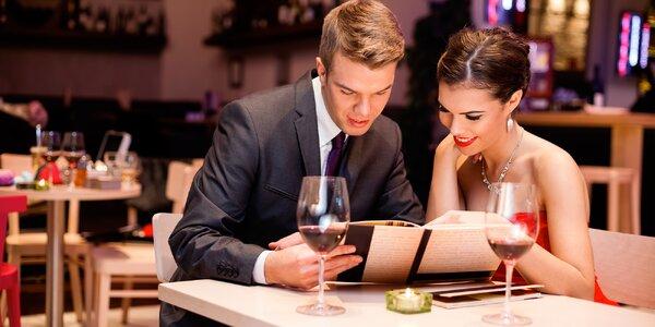 Romantika u stolu: valentýnské menu dle výběru