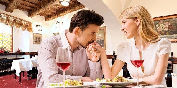 Moderní 3chodové valentýnské menu U Tří pštrosů