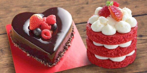 Láska je sladká: krásný valentýnský dortík