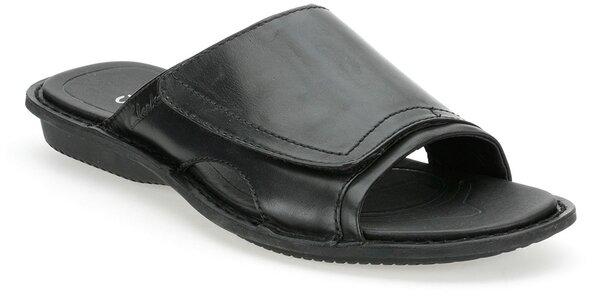 Pánské černé kožené pantofle Clarks