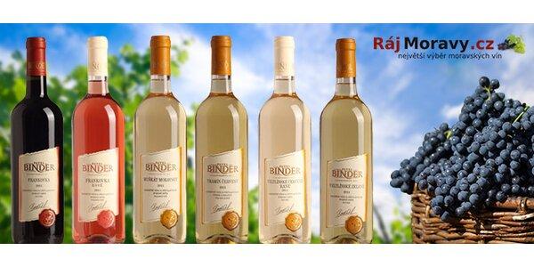 6 přívlastkových vín z Vinařství Pavel Binder, Rakvice