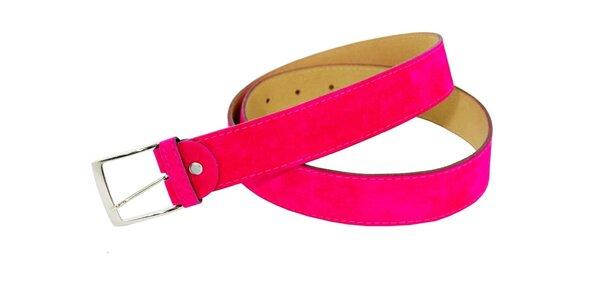 Dámský fuchsiový semišový pásek Matt&Desy