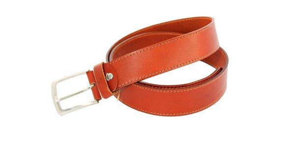 Dámský koňakově hnědý kožený pásek Matt&Desy