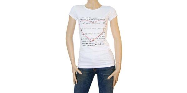 Dámské bílé tričko Matt&Desy s milostným dopisem