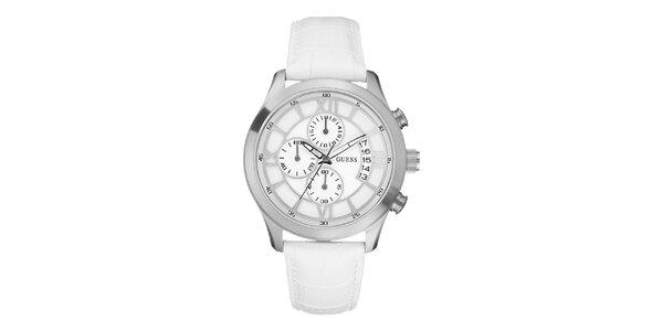 Pánské bílé analogové hodinky Guess