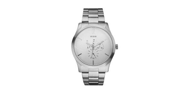 Pánské ocelové analogové hodinky Guess