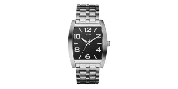 Pánské ocelové hodinky s hranatým ciferníkem Guess