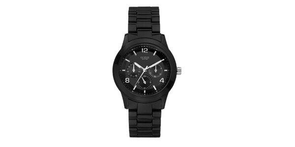 Dámské černé analogové hodinky Guess